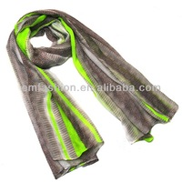 2014 New Fashion Colorful Stripe Print Women's Scarf/Shawl