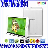 Onda V819 mini 3G Quad Core Tablet PC 7.9 inch Android 4.21024x768 IPS pad WCDMA Phone call Good Camera tablets