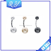 Handmade Imitation Pearl Lovely Navel Belly Button Ring Factory Supply