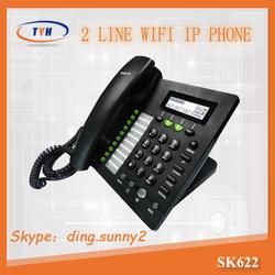 2015 New Arrive !SK622W desktop Wifi ip phone ,gsm wifi sip phone