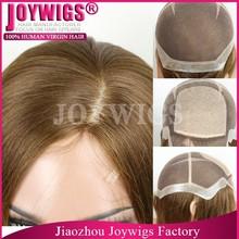 "Factory Wholesale High Quality European Hair 4""X4"" Silk Top Thin Skin Perimeter Full Lace Wigs"