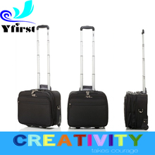 2015 new coming Travel Trolley Luggage Bag 16 inches Retractable Rod Brown Nylon 2 Wheels with Laptop Set Polo Luggage