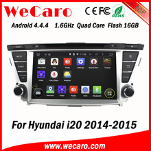 Wecaro WC-HI8081 Android 4.4.4 car dvd player for Hyundai I20 2014 2015 with radio 3G wifi playstore