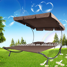 Outdoor day beds, sun deck lounge, double sun lounge with canopy