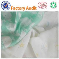 Organic/Gots Swaddle Blankets Newborn Cotton Baby Muslin Cloth