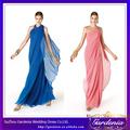 El último estilo que fluye gasa rosa y azul de las señoras del partido de largo desgaste de la tarde del vestido (ZX138)