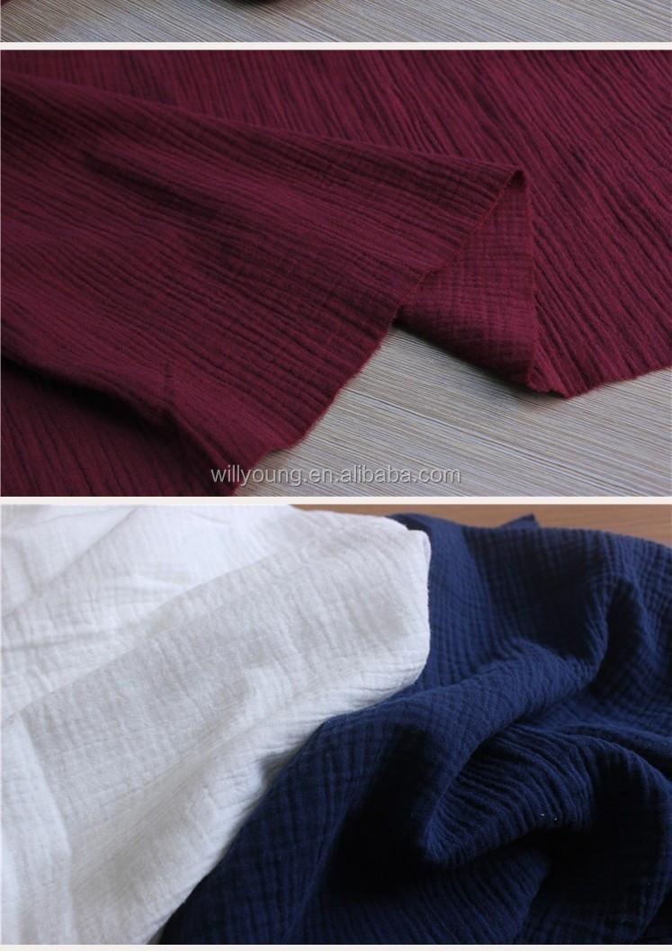 double couche en tricot tissu cr pe coton tissu texture fold deux couches fils de coton pour la. Black Bedroom Furniture Sets. Home Design Ideas