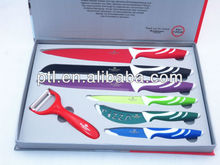 Swiss Royalty nonstick color knife set KN6997