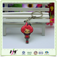 Promotional Souvenir Flexible Rubber keychain free samples