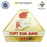 metal logo design indian souvenir plating die cast collar metal badge clip safety pin
