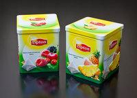 square tin box for tea tin box