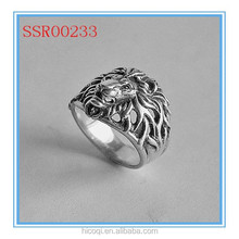 High quality fashion design hot sale wholesale ring with lion head