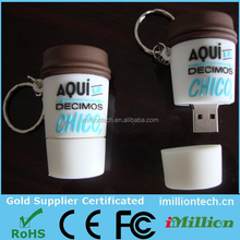Novelty Coffee Cup Usb Flash Drives, pvc usb flash drive rubber usb flash drives wholesale key pens