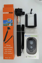 BLACK SELFIE STICK + BLUETOOTH REMOTE MONOPOD FOR iPhone 4 4s 5 5s 6 6+