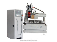 ATC single arm solid wood furniture cnc router/wood working machine for wooden furnitures and doors and windows
