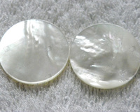 Semi precious stone mother of pearl round disk