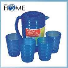 Best Sales Recycled Water Cooler Jug Plastic Pitcher with Cups