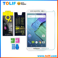 Latest product 2015 mobile phone screen protector,0.3MM HD clear tempered glass film screen protector for Moto X style