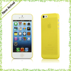 yellow new case for iphone 5c,transparent flexible phone case