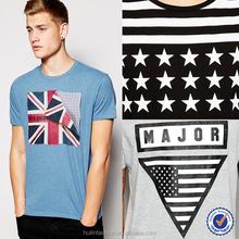 t shirt wholesale cheap mens short sleeves 100% cotton flag t-shirt