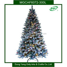 6FT Green Flocked Pine Artificial Led Christmas Tree