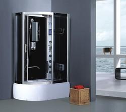 Family luxury equipment prefabricated houses sliding glass door composite cabin mirror glass steam shower cabin