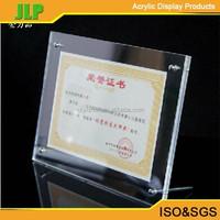 JLP A4 acrylic photo photo frame,8''*12'' acrylic sign holder