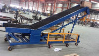 Loading & Unloading belt conveyor/portable flat belt conveyor/portable conveyor for truck unloading