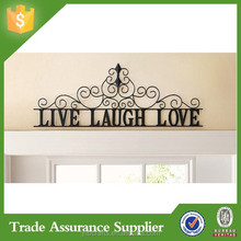 Scrolling Black Live Laugh Love Metal Wall Art for sale