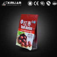 laminated plastic food packaging with zipper