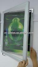 Aluminum door-hinged lockable design led poster frames light box