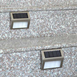 Charging daytime Liting at night solar light Stainless steel outdoor solar stair light