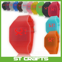 Fashion Magic LED Digital Touch Screen Colorful Silicone Sport Watch,hot sale touch digital led watch instructions