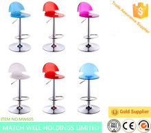 Hot selling Pure Acrylic Bar Stool in Plastic swivel bar stool plastic bat stool chair