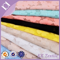 100%polyester grid mesh fabric with yoryu chiffon cloth flowers embroidery design