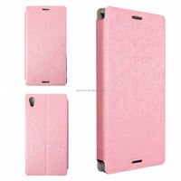 Stylish Excellent Quality Ultra Slim Flip Wallet Case Skin Stand For Sony For Xperia M4 Aqua PU Leather Cover Protector Pouch