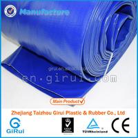 anti-uv blue color 4 inch pvc lay flat hose