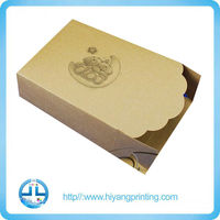 2014 new products custom printed packaging cake box with hot stamping for cakes