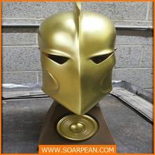 Custom roman helmet with golden
