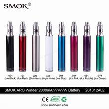 2000mah ego long lasting batteries e cigs smok Aro winder 2000 vv vw rechargeable battery