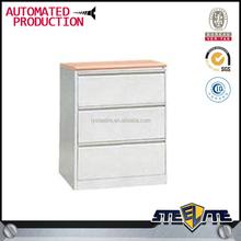 3 drawer metal furniture/ index card office wooden file cabinet