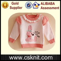 new design knitted jacquard pullover sweater for girls