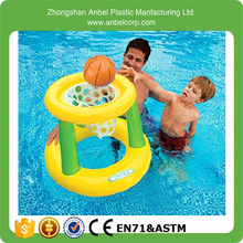 Family water sport party games inflatable floating hoops basketball