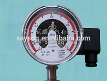 prevent leakagcan print customer logo electric contact pressure gauge in China High Stability stainless steel 63mm SF6 manometer