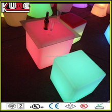 multi colors indoor/ outdoor plastic light cube LED table