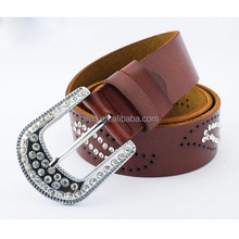 2014 Fashion Ladies PU Beaded Belt with Pearls