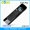 Promotion price multimedia keyboard 2.4g wireless Mele f10 pro multifunction 2.4GHZ air fly mouse for smart tv