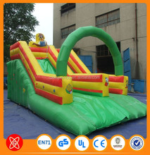 Commerical use Double lane PVC material inflatable castle with slide