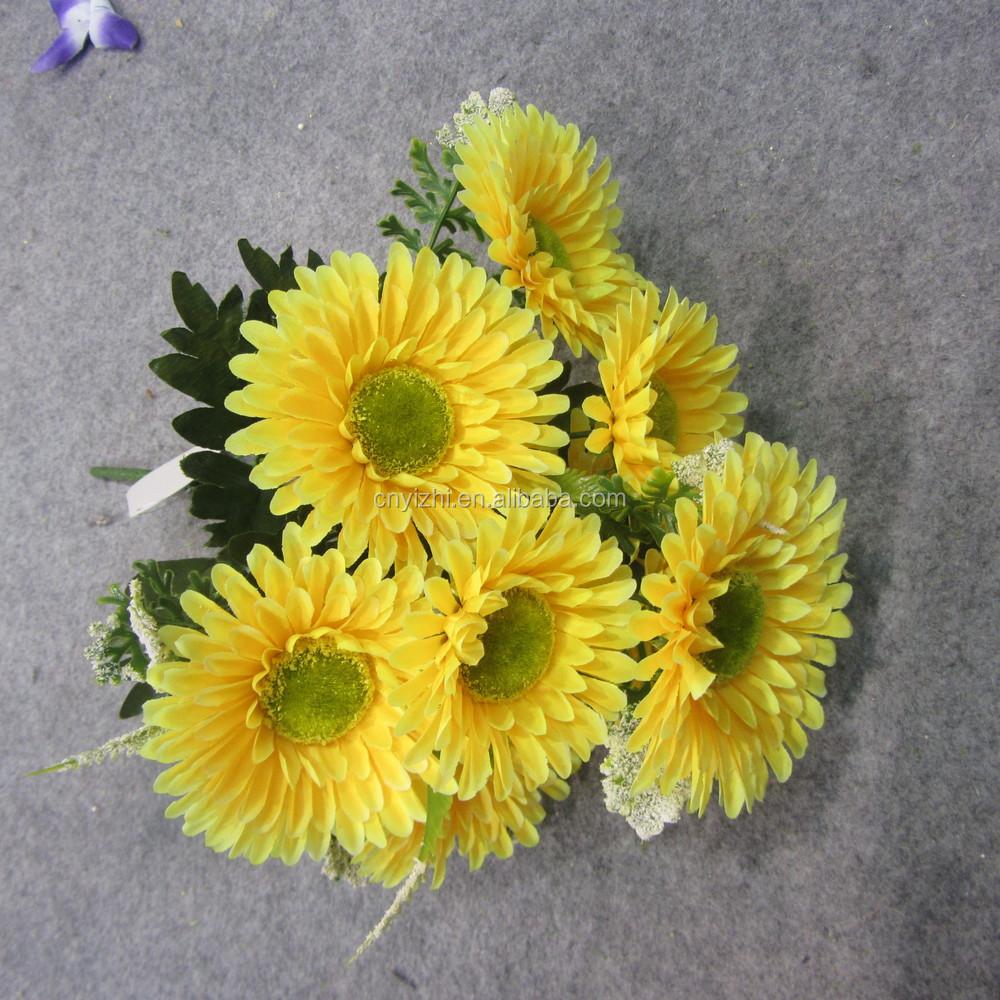 Mini artificial flower daisy bouquet wholesale sun flowers bunch yzb00309g mightylinksfo