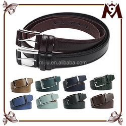 2015 Newest Arrival Multicolor Mens Genuine Italian Leather Belt with Pin Buckle